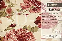 Портьерная ткань с цветами, с компаньоном полоски и мелким цветком