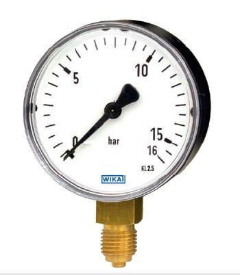Манометр 111.10.100 0/10 bar G1/2B NG 100 мм, WIKA Германия