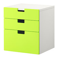 Комод детский с 3 ящиками СТУВА, зеленый, ИКЕА, IKEA, фото 1