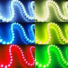 Не влагозащищенная светодиодная лента бокового свечения 60 д/м (IP33), цвет - синий, фото 2