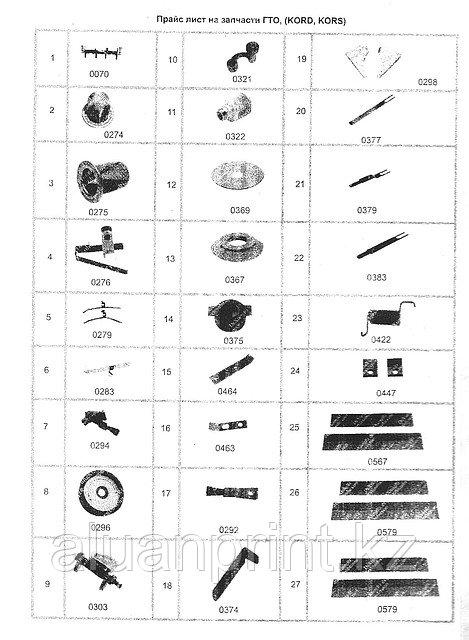 Запасные части для полиграфических машин Heidelberg