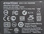 Полный корпус ABCD на Emachines G630 б/у, фото 5