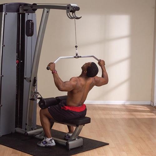 ОПЦИЯ к DGYM Двухпозиц тренажер для спины: вертикальная \ горизонтальная тяга (DLAT-S)