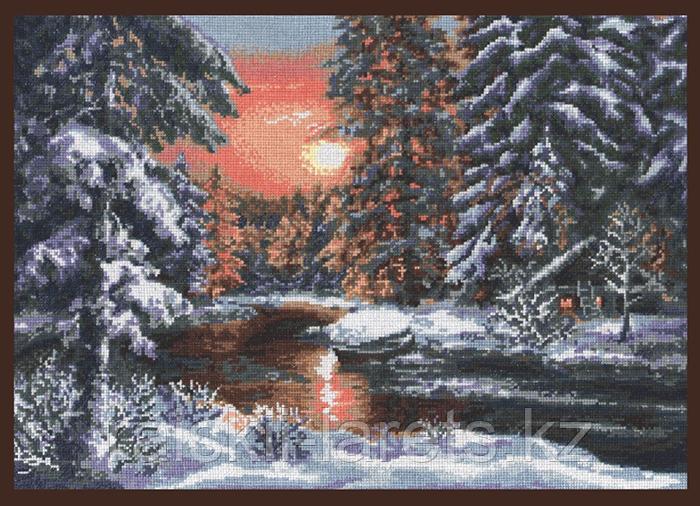 """Набор для вышивки крестом """"Зимний вечер"""" 08.001"""