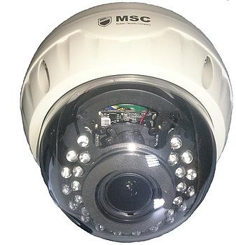 Антивандальная купольная IP камера, 1.3 mpx, вариофокальный объектив 2.8-12mm IR 20m