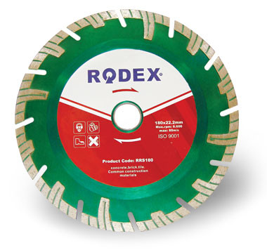 Алмазный Диск Сегментный Rodex Turbo 180x22,2 mm