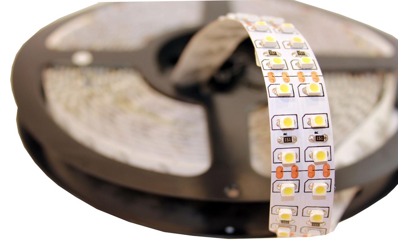 Не влагозащищенная светодиодная лента SMD 3528, 240 д/м, цвет - белый, (катушка 5м)
