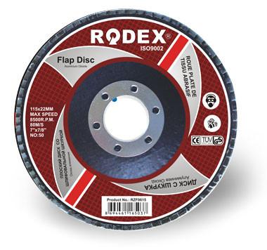 Зачистной лепестковый круг Rodex 115mm,40 зерно