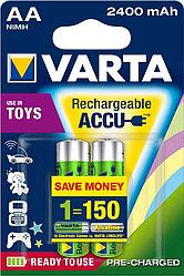 Аккумуляторные батареи Varta 2x AA NiMH 2400mAh