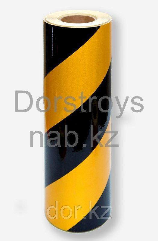 Пленка светоотражающая  черно-желтая +77079960093