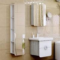 Подвесной зеркальный пенал Aqwella Alicante 40(дуб седой-белая)