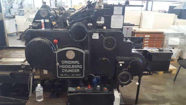 Пресс для тиснения фольгой Heidelberg Cylinder S, бу
