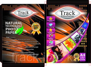 "Фотобумага ""Track"" А4 260 грамм (RC) полимерная глянцевая 50-листов"