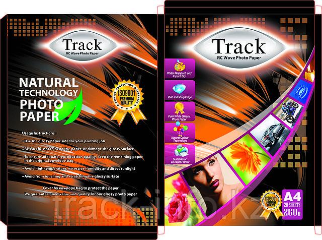 """Фотобумага  """"Track"""" А4 260 грамм шелковая волнообразная  рельефная50-листов"""