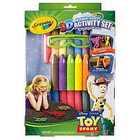 Цветные мелки для асфальта с 3D-эффектом, Toy Story , Crayola.