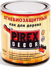 """Огнезащитный лак по дереву. """"Pirex Decor"""""""