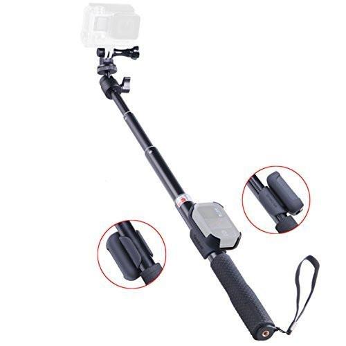Smatree® SmaPole Q2 компактный аллюминиевый монопод 25-95см для GoPro/S4000 с держателем для пульта