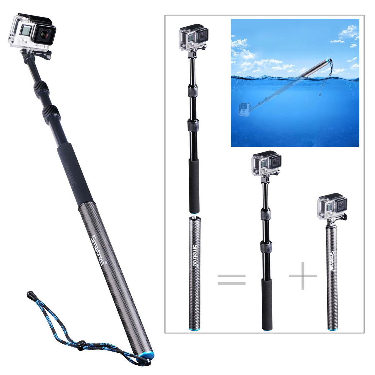 Smatree® SmaPole S3 монопод-поплавок для GoPro/SJ4000