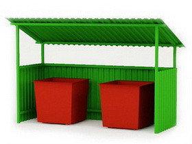 Контейнерные площадки, ограждение для мусорных контейнеров