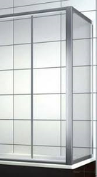Боковая шторка на прямоугольную ванну хром/бел. 70*140