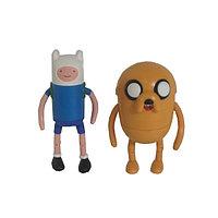 Набор фигурок Adventure Time Finn & Jake 2в1 с комиксом (8см)