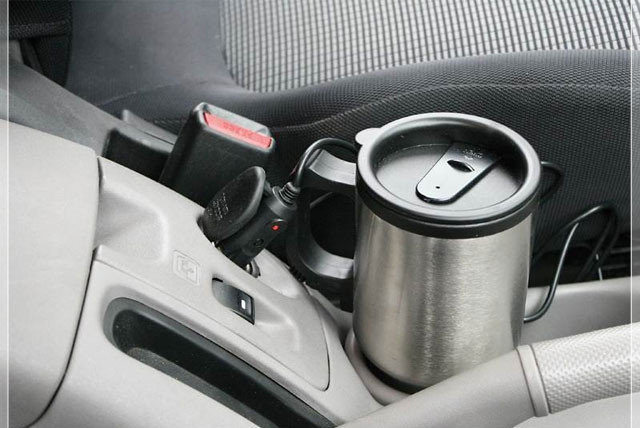 Кружка с подогревом от автомобильного прикуривателя, фото 2