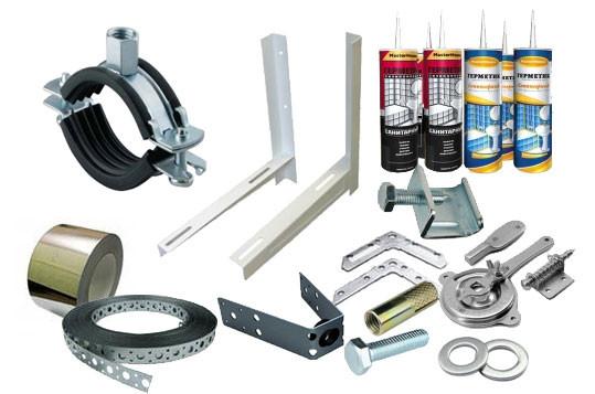 Расходные и крепежные материалы для систем вентиляции