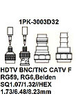 Pro`skit 1PK-3003D31 Насадка для обжима 1PK-3003F  (HDTV,BNC/TNC,RG6, Belden 1694,1694A), фото 2