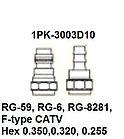 Pro`skit 1PK-3003D10 Насадка для обжима 1PK-3003F (RG-59,6,8281, F-type CATV), фото 3