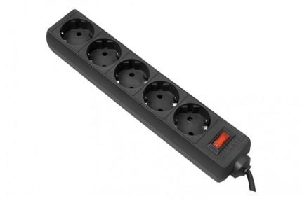 Defender ES 5 Сетевой фильтр ES 5.0 m 5 розеток, черный