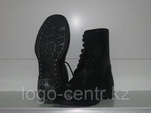Ботинки с высоким берцем юфтевые укрепленным подноском,арт 0094              арт.