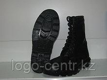 Ботинки с высоким берцем хромовые утепленные натуральным мехом, арт.0095