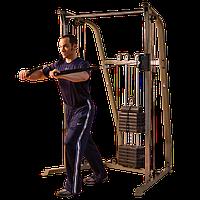Сдвоенная блочная стойка с одним весовым стеком 86 кг BEST FITNESS (BFFT10)      , фото 1