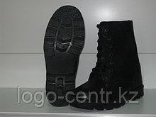 Ботинки с высоким берцем юфтевые  с мягким канатом, арт.0098