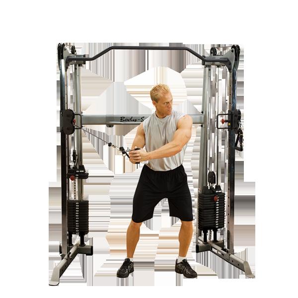 Сдвоенная блочная стойка с двумя весовыми стеками по 72,5 кг    (GDCC200)