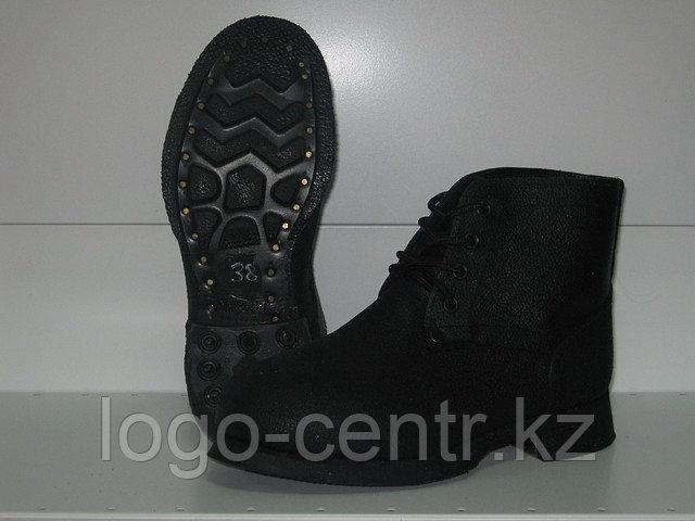 Ботинки спилковые,основная стелька кожаная, арт. 0100