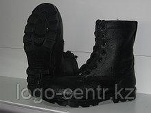 Ботинки с высоким берцем юфтевые утепленные с натуралным мехом, арт.0093
