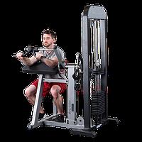Тренажер бицепс \ трицепс с весовым стеком 95 кг (GCBT-STK)