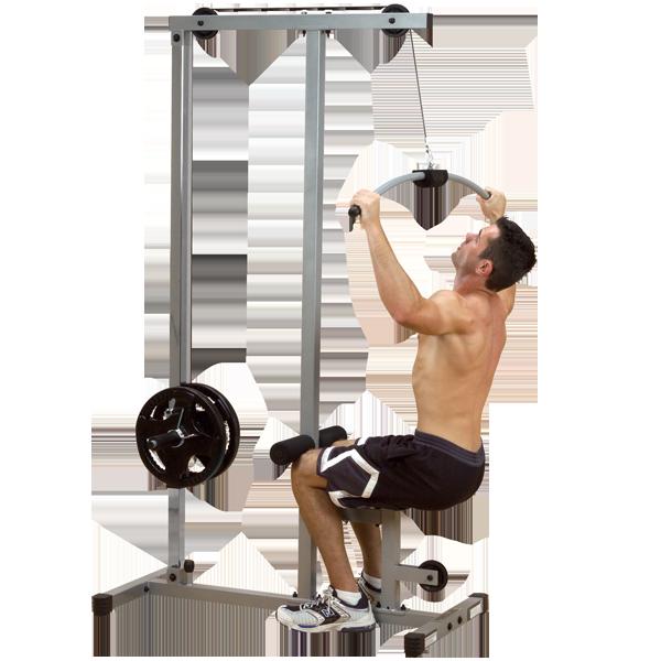 Тренажер верхняя \ нижняя тяга на свободных весах ф26 POWERLINE (PLM180X)