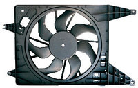 Электровентилятор охлаждения в сборе с кожухом для LADA Largus с А/С, RENAULT Logan 2008-, Sandero 2009-, Dust