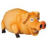 """Trixie 35499 Игрушка для собак """"Свинья с щетиной"""" имитирует звук животного, латекс, 21 см, фото 1"""