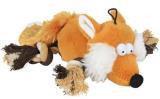 """Trixie (Трикси) 35919 Игрушка для собак плюшевая, пищащая, """"Лиса"""" с веревочными ногами, 34см"""