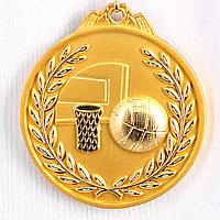 Медаль рельефная БАСКЕТБОЛ (золото)