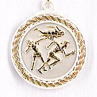 Медаль рельефная ЛЕГКАЯ АТЛЕТИКА (серебро), фото 1