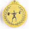 Медаль рельефная ТЯЖЕЛАЯ АТЛЕТИКА (золото)