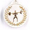 Медаль рельефная ТЯЖЕЛАЯ АТЛЕТИКА (серебро)