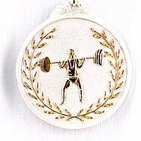 Медаль рельефная ТЯЖЕЛАЯ АТЛЕТИКА (серебро), фото 1