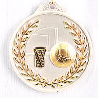 Медаль рельефная БАСКЕТБОЛ (серебро)