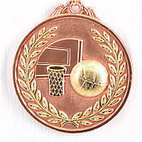 Медаль рельефная БАСКЕТБОЛ (бронза), фото 1