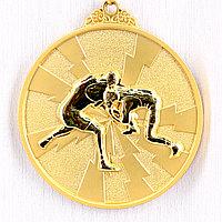 Медаль рельефная БОРЬБА (золото), фото 1